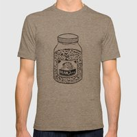 Brain Juice Mens Fitted Tee Tri-Coffee SMALL