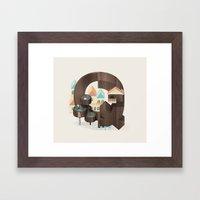 Resort Type - Letter Q Framed Art Print