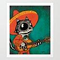 Gato de los Muertos Art Print