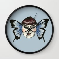 butterfly lady. Wall Clock