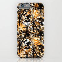 Aztec Pattern Orange iPhone 6 Slim Case