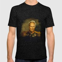 Clint Eastwood - replaceface Mens Fitted Tee Tri-Black SMALL