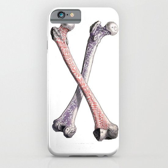 Bones & flowers iPhone & iPod Case