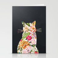 Stationery Cards featuring Tropicat by Farsidian