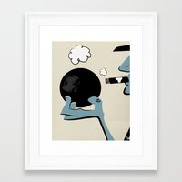 Bowling And Cigars At Th… Framed Art Print
