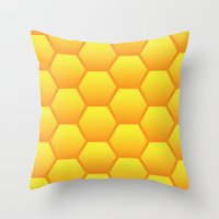 Honeycombs Throw Pillow