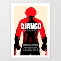 Django Unchained Poster Art Print