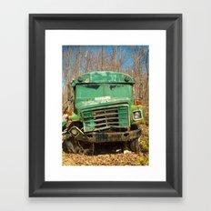 The Green Bus Framed Art Print