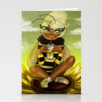 Bug Girls: Bee snack break Stationery Cards