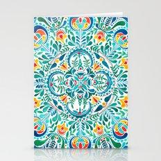 Turquoise-yellow Mandala Stationery Cards