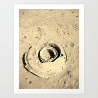 lost wheel Art Print