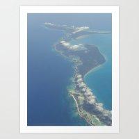 Flying Over Paradise Art Print