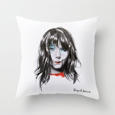 Bjork Portrait Throw Pillow