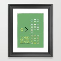 Lord of the Rings movie Poster Framed Art Print