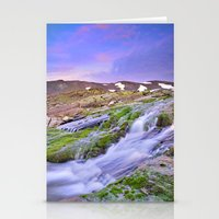 Mountain River At 3000 M… Stationery Cards