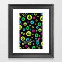 GGDUB - Neon Weed Leaf  Framed Art Print