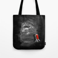 Chalk Monster Tote Bag