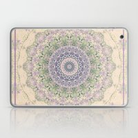 32 Wisteria Pine Loop -- Vintage Cream and Lavender Purple Mandala  Laptop & iPad Skin