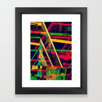 Industrial Abstract Green Framed Art Print