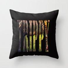 Black With White Stripes... Or? Throw Pillow