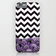 Purple Flower Chevron Slim Case iPhone 6s