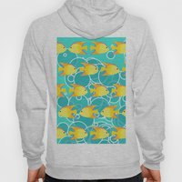 Yellow fish pattern Hoody