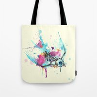 Swallow Skeleton Bird Wa… Tote Bag