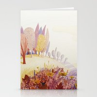 Over the hills Stationery Cards