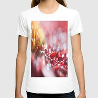 Red For Today Womens Fitted Tee White SMALL