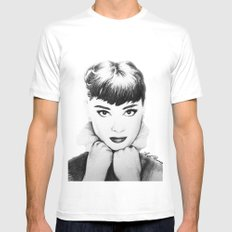 Hepburn White Mens Fitted Tee SMALL
