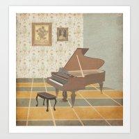 Piano Room Art Print