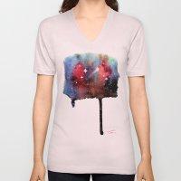 Little Nebula Watercolor Unisex V-Neck