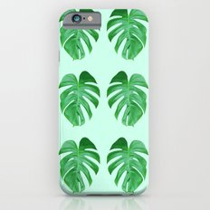 Green Monstera Leaf Pattern Slim Case iPhone 6s