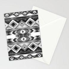 Southwest Pattern- Black & White Stationery Cards