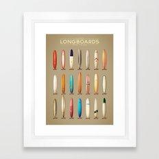 Classics longboards Framed Art Print
