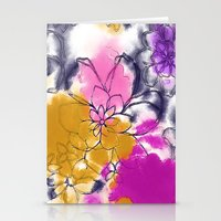Abstract Flowers - Water… Stationery Cards