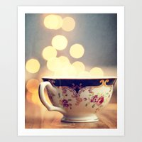 Blue And Gold Steaming C… Art Print