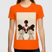 Helen And Clytemnestra Womens Fitted Tee Orange SMALL