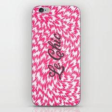 Neon Pink Chic Leopard Print Girly Zigzag Pattern iPhone & iPod Skin