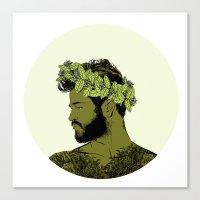 Green Crown Canvas Print
