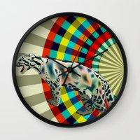 Clouded ( Rainbow ) Leop… Wall Clock