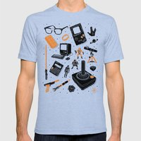 Nerd Life Mens Fitted Tee Tri-Blue SMALL