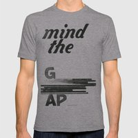 mind the gap Mens Fitted Tee Athletic Grey SMALL