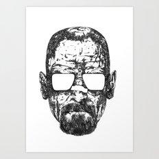 Heisenberg Propaganda White Art Print