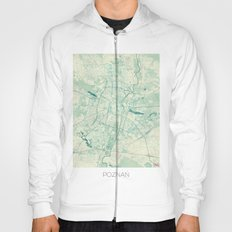 Poznan Map Blue Vintage Hoody