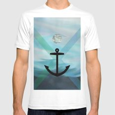 anchor Mens Fitted Tee White SMALL