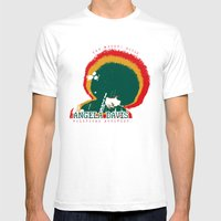 Angela Davis Mens Fitted Tee White SMALL