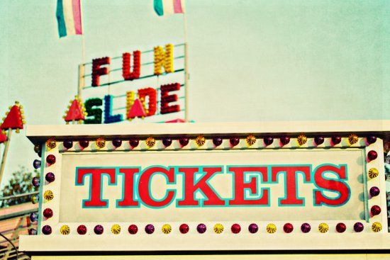 tickets to the fun slide Art Print
