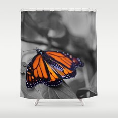 Monarch BW Shower Curtain
