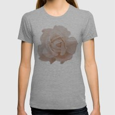 DUSKY ROSE Womens Fitted Tee Athletic Grey SMALL